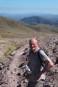 Richard on the ascent of An Teallach