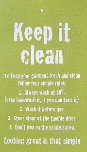 Keep it clean … wash instructions everyone can understand