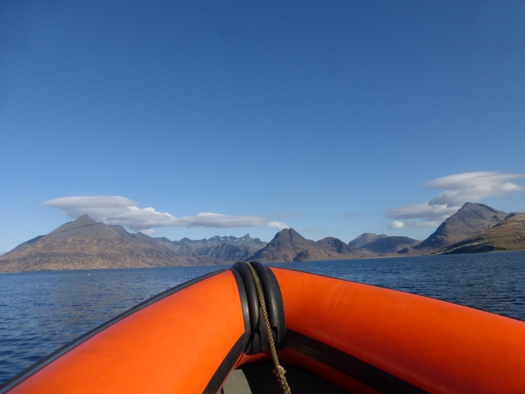 Rib ride across Loch Scavaig