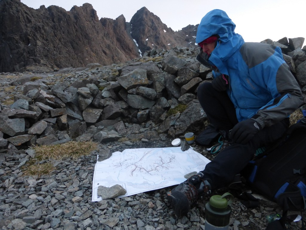 Route planning on the ridge