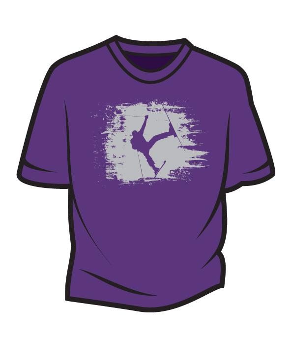 Dark-Purple-Skier-Design-1-T-Shirt