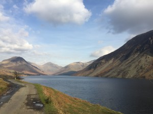 view down wast water from car
