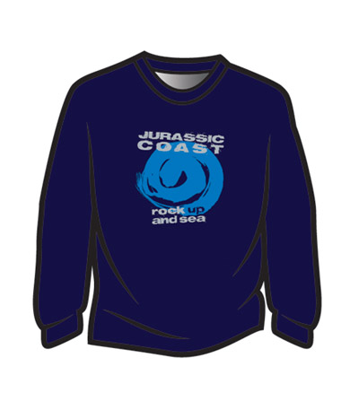 Blue-Jurassic-Coast-Long-Sleeve-T-Shirt