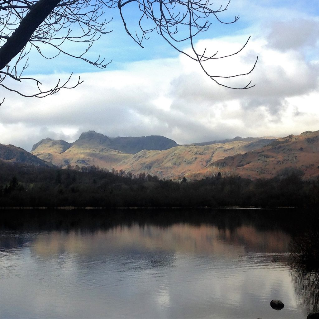 7. Elterwater with the Langdale Pikes