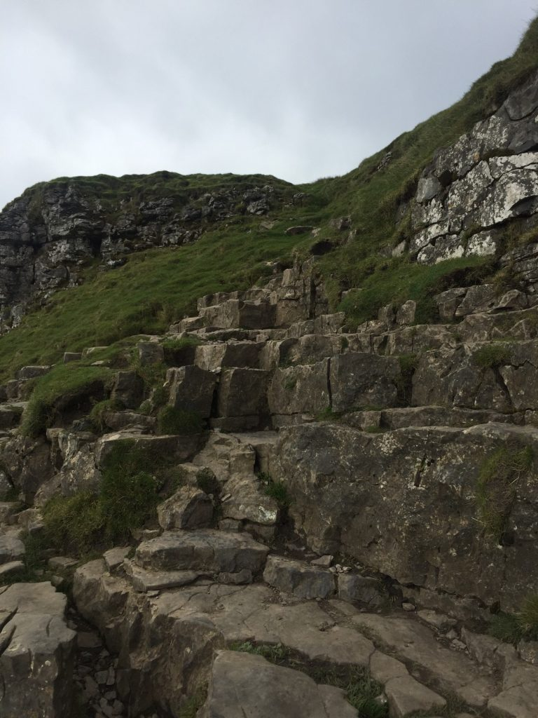 Pic 5 Rocks up Pen Y Ghent create a natural staircase on the final ascent