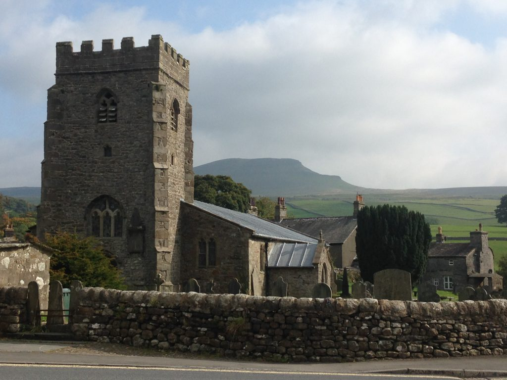 pic 1 St Oswald's Chuch with Pen y Ghent in the background