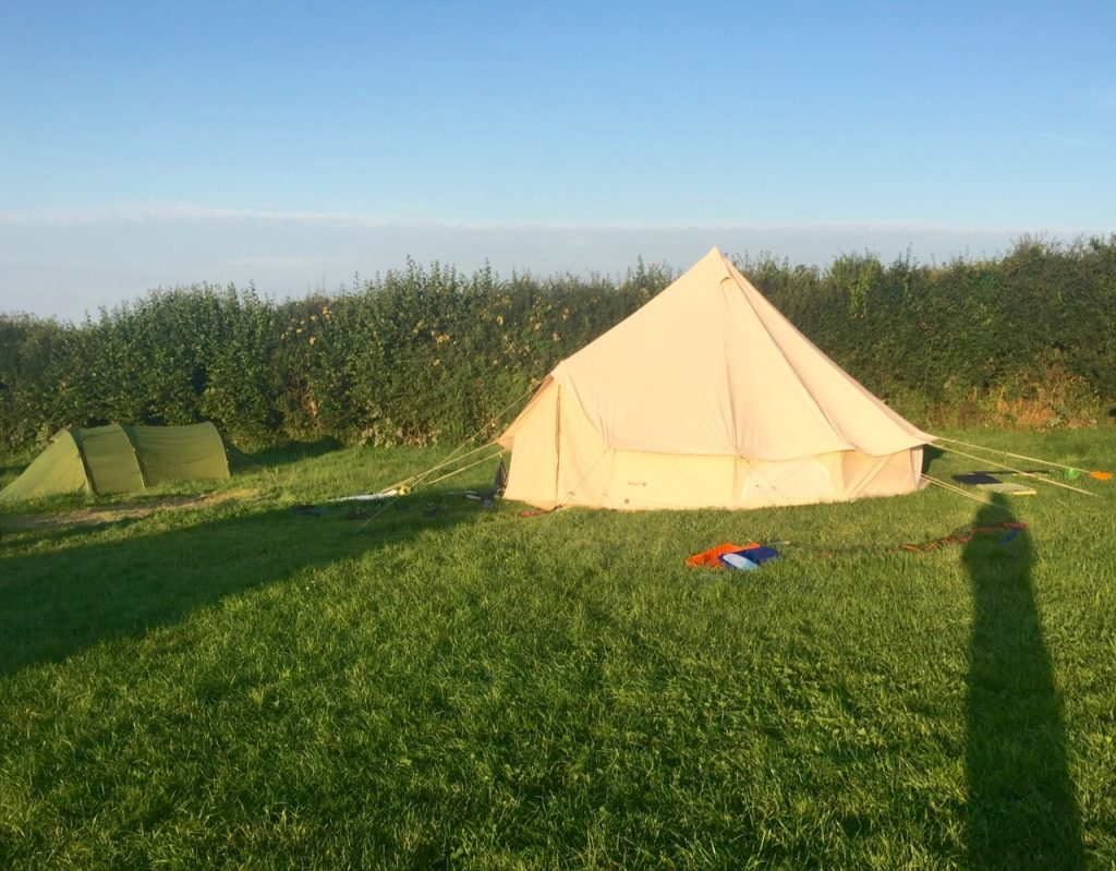 camping at Nicholaston Farm in The Gower