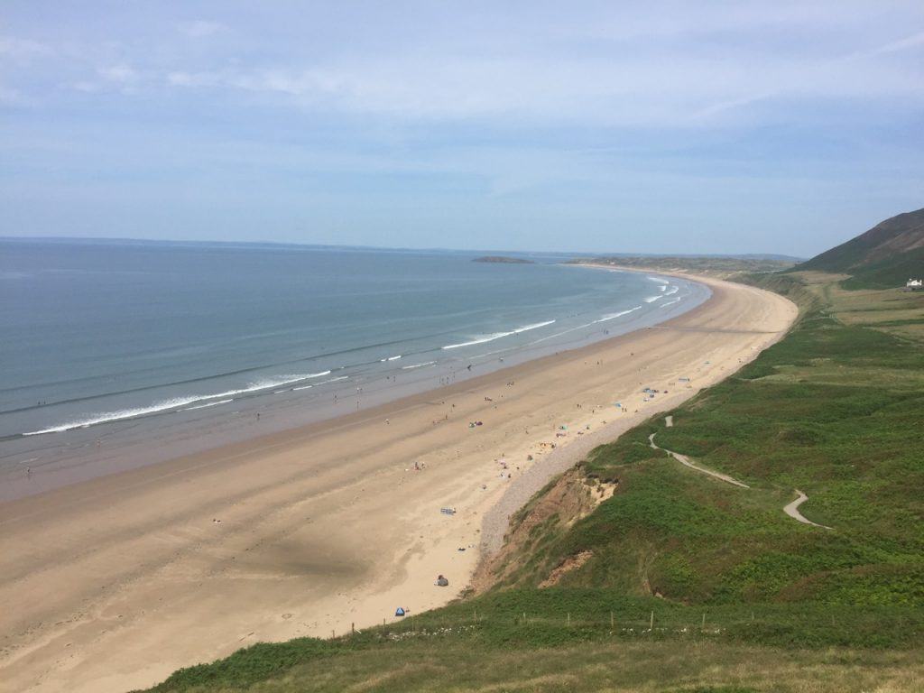 Rhossilli Beach in The Gower
